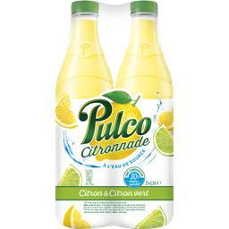 Citronnade à l'eau de source citron & citron vert