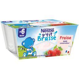 Nestlé Nestlé Bébé P'tit Brassé - Dessert fraise, 6+ mois