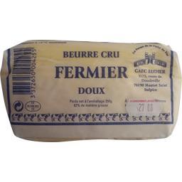 Beurre cru fermier doux