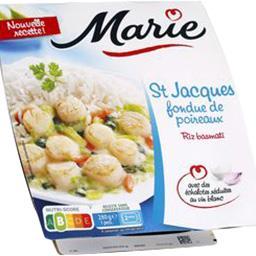 Marie St Jacques fondue de poireaux & riz basmati