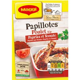 Papillotes - Assaisonnement poulet paprika et tomate