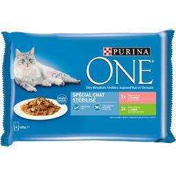Purina One Assortiment effilés en sauce spécial chat stérilisé