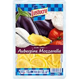 Demi-lune aubergine mozzarella