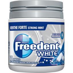 Freedent White - Chewing-gum menthe forte sans sucres