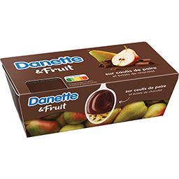 Danette & Fruit - Crème dessert chocolat sur coulis ...