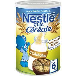 P'tite Céréale - Céréale 5 céréales, 6+ mois