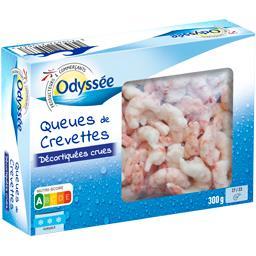 Queues de crevettes décortiquées crues