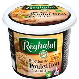 Rillettes de poulet rôti en cocotte halal