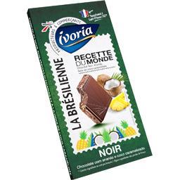 Ivoria Chocolat noir La Brésilienne pépites d'ananas noix d... la tablette de 180 g
