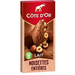 Chocolat au lait Bloc noisettes entières