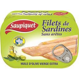 Filets de sardines sans arêtes à l'huile d'olive