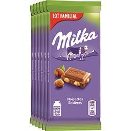 Milka Chocolat au lait noisettes entières