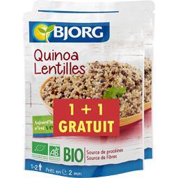 Bjorg Quinoa lentilles BIO le sachet de 250 g