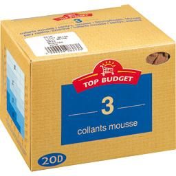 Collants mousse - 20D -daim T4