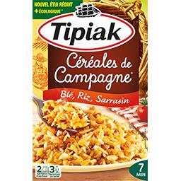Céréales de campagne blé riz sarrasin fondant