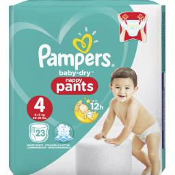 Pampers Couches Baby-dry taille 4 : 8-15 kg