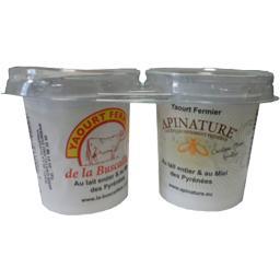 Yaourt au lait entier des Pyrénées au miel
