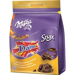 Chocolat au lait éclats de Daim et Cornflakes