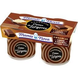 Gourmand - Dessert Cœur de Liégeois chocolat cœur ca...