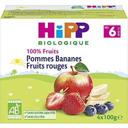 100% Fruits - Pommes bananes fruits rouges BIO, dès ...