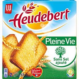 Heudebert - Biscottes Pleine Vie sans sel ajouté