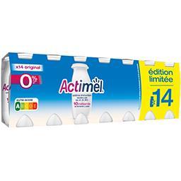 Actimel Danone  - Yaourts à boire nature 0% MG allégé en suc... les 14 bouteilles de 100 g