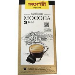 Cafés ttrottet Capsules Cafés rares mococa du brésil, compatible ne... La boîte de 10 capsules