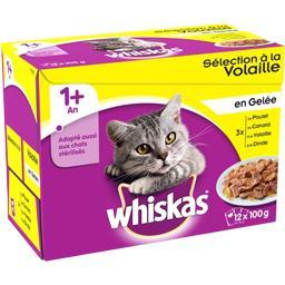 Whiskas Sélection à la volaille en gelée pour chats 1+ an