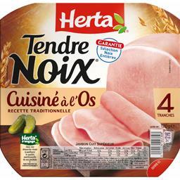 Tendre Noix cuisiné à l'os,HERTA,la barquette de 4 tranches - 120g