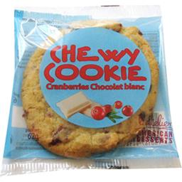 American Desserts Biscuit Chewy Cookie Cranberries chocolat blanc le sachet de 62 g
