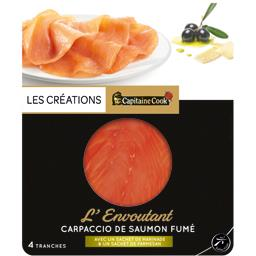 L'Envoûtant Carpaccio de saumon fumé marinade & parm...