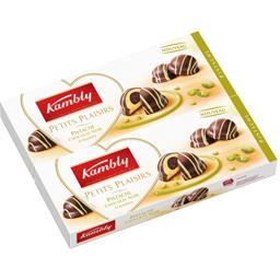Kambly Petits Plaisirs - Biscuits pistache chocolat noir les 2 boites de 100 g