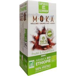 Capsules de café arabica Ethiopie BIO, fruité & dynamique