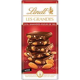 Lindt Les Grandes - Chocolat noir amandes fleurs de sel la tablette de 150 g