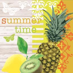 Serviettes 3 plis 33x33 cm Summer Time
