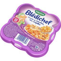 Blédichef - Farandole de carottes, pâtes coquilles, ...