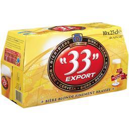 Bière blonde finement brassée