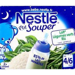 P'tit Souper - Repas du soir légumes verts riz, 4/6+ mois