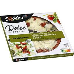 Dolce Pizza - Pizza copeaux de mozzarella tomate marinée & pesto