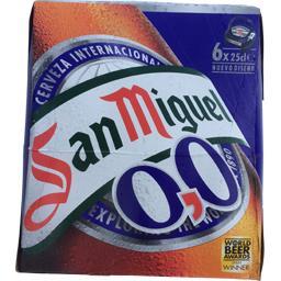 San miguel Bière sans alcool Le pack de 6 bouteilles de 25 cl
