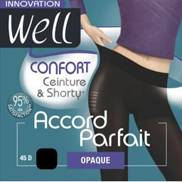 Accord Parfait - Collant opaque confort noir T2