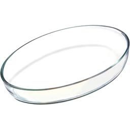 Plat ovale verre 35x24cm spécial four