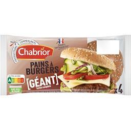 Pains pour Hamburger Géant à la farine complète