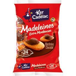 Madeleines extra moelleuses marbrées chocolat
