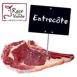 Le choix du Boucher Entrecôte, RACE A VIANDE LIMOUSINE à partir de 250 gr environ
