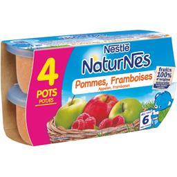 Pommes framboises, dès 6 mois
