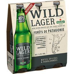 Bière blonde Wild Lager forêts de Patagonie