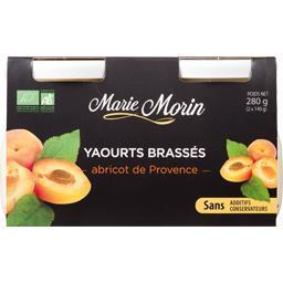 Marie Morin Yaourts brassés abricots de Provence les 2 pots de 140 g