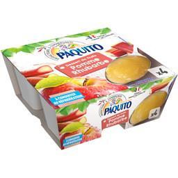 Paquito Dessert de fruits pomme rhubarbe les 4 pots de 100 g