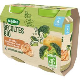 Les Récoltes BIO - Brocolis pommes de terre veau BIO...